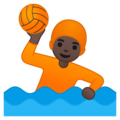 Person Playing Water Polo: Dark Skin Tone on Google Android 10.0