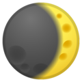 Waxing Crescent Moon on Google Android 10.0