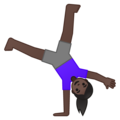 Woman Cartwheeling: Dark Skin Tone on Google Android 10.0