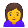 Woman Frowning on Google Android 10.0