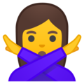 Woman Gesturing No on Google Android 10.0