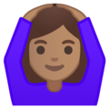 Woman Gesturing OK: Medium Skin Tone on Google Android 10.0