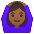Woman Gesturing OK: Medium-Dark Skin Tone on Google Android 10.0