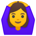 Woman Gesturing OK on Google Android 10.0