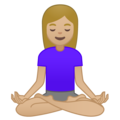 Woman in Lotus Position: Medium-Light Skin Tone on Google Android 10.0