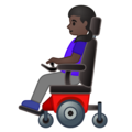 Woman in Motorized Wheelchair: Dark Skin Tone on Google Android 10.0