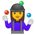 Woman Juggling on Google Android 10.0