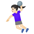 Woman Playing Handball: Light Skin Tone on Google Android 10.0