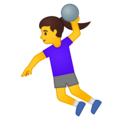 Woman Playing Handball on Google Android 10.0