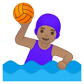 Woman Playing Water Polo: Medium Skin Tone on Google Android 10.0