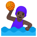 Woman Playing Water Polo: Dark Skin Tone on Google Android 10.0