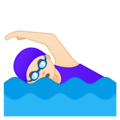 Woman Swimming: Light Skin Tone on Google Android 10.0