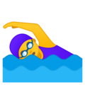 Woman Swimming on Google Android 10.0
