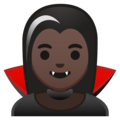 Woman Vampire: Dark Skin Tone on Google Android 10.0