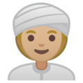 Woman Wearing Turban: Medium-Light Skin Tone on Google Android 10.0
