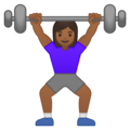 Woman Lifting Weights: Medium-Dark Skin Tone on Google Android 10.0