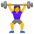 Woman Lifting Weights on Google Android 10.0