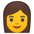 Woman on Google Android 10.0