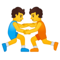 People Wrestling on Google Android 10.0