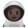 Astronaut: Dark Skin Tone on Google Android 10.0 March 2020 Feature Drop