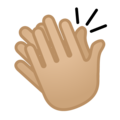 Clapping Hands: Medium-Light Skin Tone on Google Android 10.0 March 2020 Feature Drop