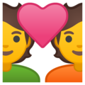 Couple with Heart on Google Android 10.0 March 2020 Feature Drop