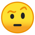Face with Raised Eyebrow on Google Android 10.0 March 2020 Feature Drop