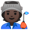 Factory Worker: Dark Skin Tone on Google Android 10.0 March 2020 Feature Drop