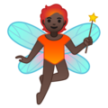 Fairy: Dark Skin Tone on Google Android 10.0 March 2020 Feature Drop