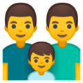 Family: Man, Man, Boy on Google Android 10.0 March 2020 Feature Drop