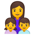 Family: Woman, Girl, Boy on Google Android 10.0 March 2020 Feature Drop