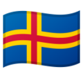 Flag: Åland Islands on Google Android 10.0 March 2020 Feature Drop