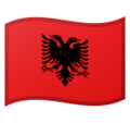 Flag: Albania on Google Android 10.0 March 2020 Feature Drop