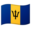 Flag: Barbados on Google Android 10.0 March 2020 Feature Drop