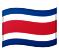 Flag: Costa Rica on Google Android 10.0 March 2020 Feature Drop