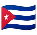 Flag: Cuba on Google Android 10.0 March 2020 Feature Drop
