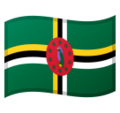 Flag: Dominica on Google Android 10.0 March 2020 Feature Drop