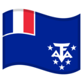 Flag: French Southern Territories on Google Android 10.0 March 2020 Feature Drop