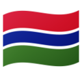 Flag: Gambia on Google Android 10.0 March 2020 Feature Drop