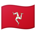Flag: Isle of Man on Google Android 10.0 March 2020 Feature Drop