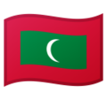 Flag: Maldives on Google Android 10.0 March 2020 Feature Drop