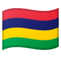 Flag: Mauritius on Google Android 10.0 March 2020 Feature Drop