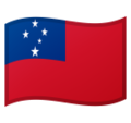 Flag: Samoa on Google Android 10.0 March 2020 Feature Drop