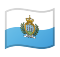 Flag: San Marino on Google Android 10.0 March 2020 Feature Drop