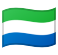Flag: Sierra Leone on Google Android 10.0 March 2020 Feature Drop