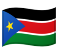 Flag: South Sudan on Google Android 10.0 March 2020 Feature Drop