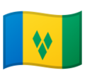 Flag: St. Vincent & Grenadines on Google Android 10.0 March 2020 Feature Drop