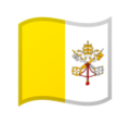Flag: Vatican City on Google Android 10.0 March 2020 Feature Drop