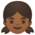 Girl: Medium-Dark Skin Tone on Google Android 10.0 March 2020 Feature Drop