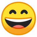 Grinning Face with Smiling Eyes on Google Android 10.0 March 2020 Feature Drop